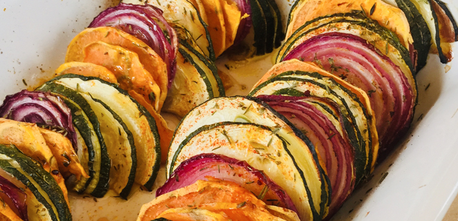 Tian courgettes & patates douces