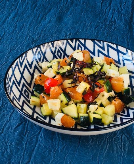 Salade de courgettes aux abricots